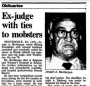 Joseph A. Bevilacqua's Obit, Chicago Tribune, June 22, 1989